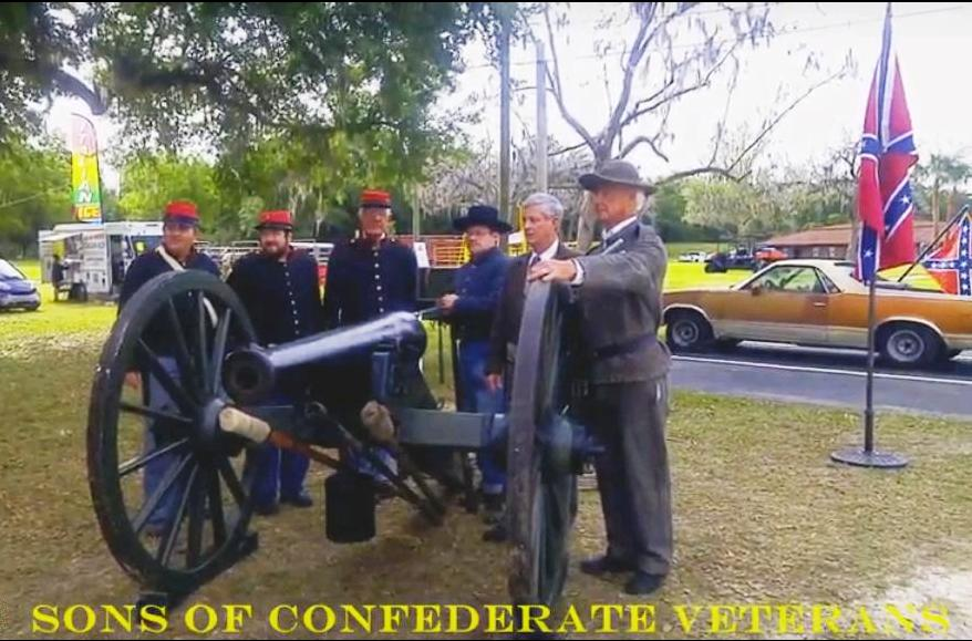 Confederate Canon crew at 175th Marion County, FL birthday
