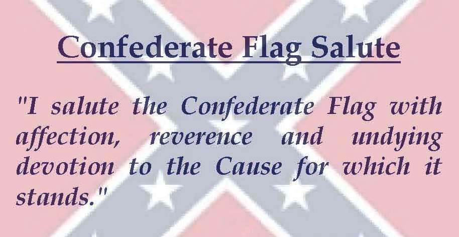 Confederate Flag Salute