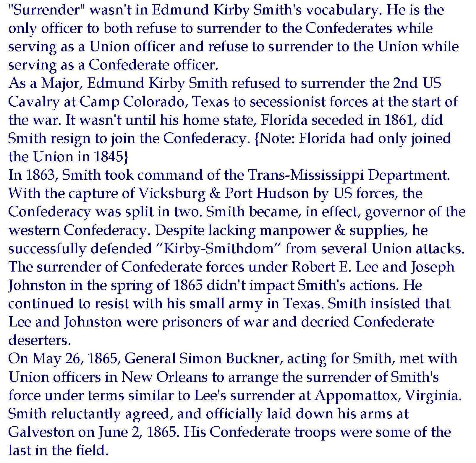Edmund Kirby Smith bio