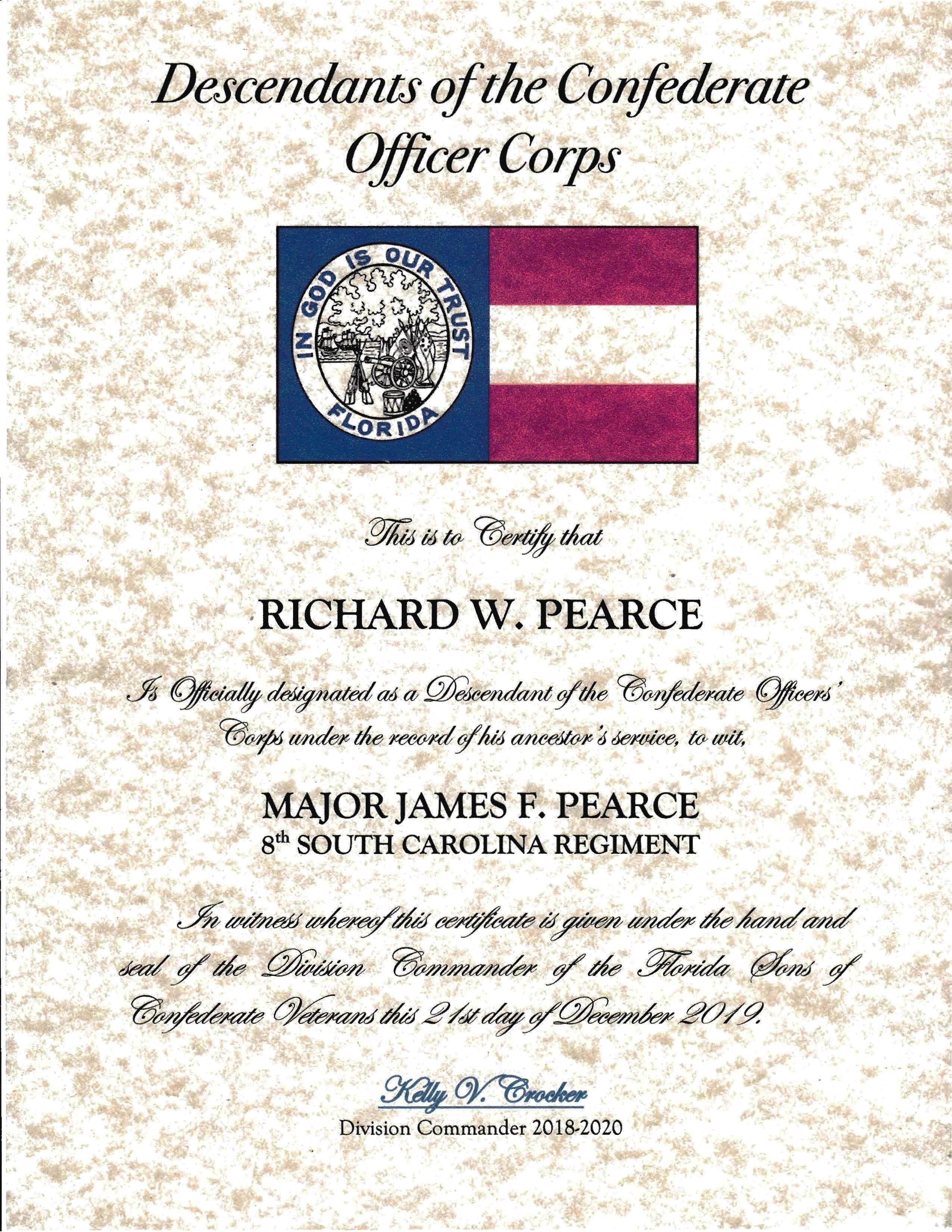 Major James Furman Pearce- Ancestor of Rich Pearce_Page_1