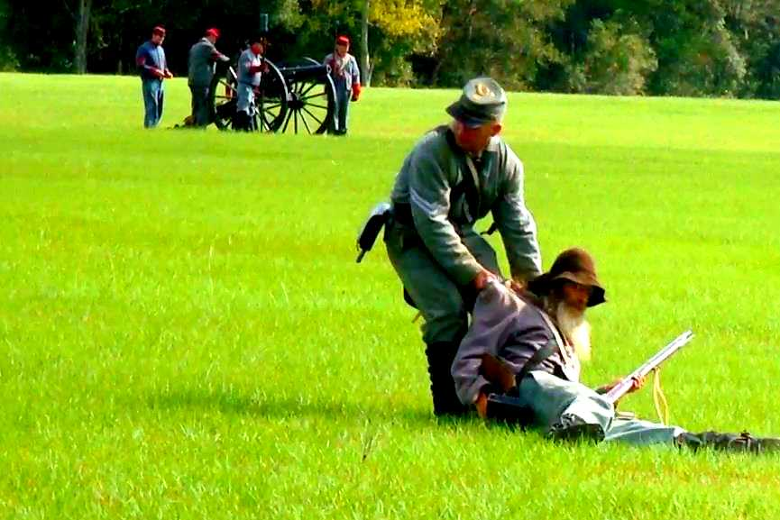 Ocklawaha River Raid wounded Confederate